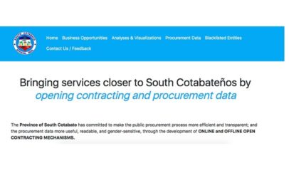 There's always room for improvement: Open contracting in the province of South Cotabato