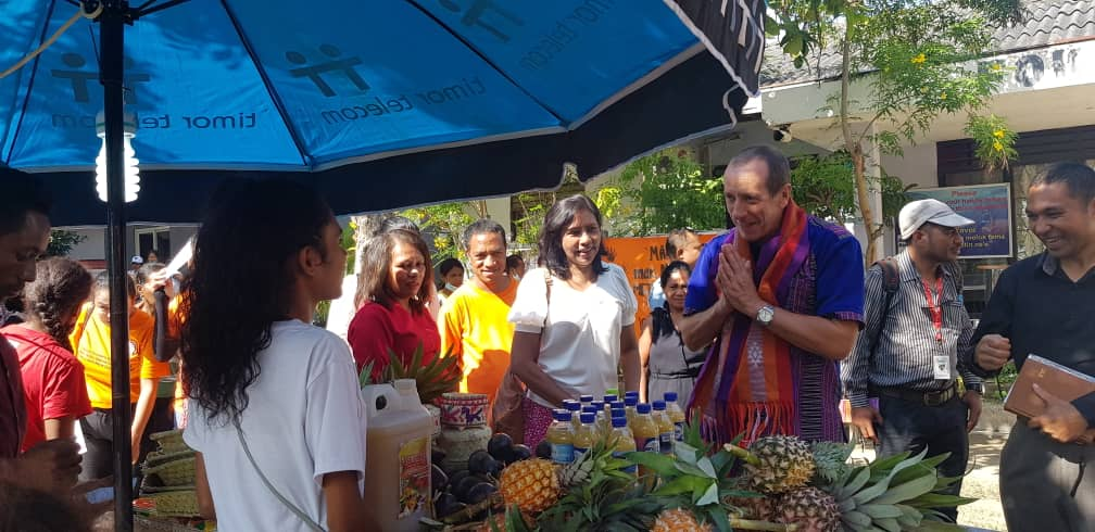 press release bazaar with women survivors and victims of Gender Based Violence and past conflict